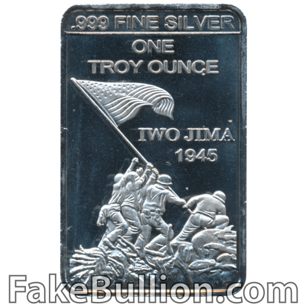 Generic US Marine Corps Iwo Jima 1 Ounce Silver Bar
