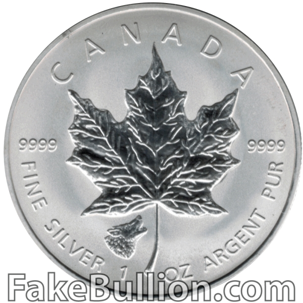 2016 Canadian Silver Maple Wolf Privy Reverse Proof 1 Ounce Silver Coin