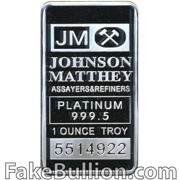 Johnson-Matthey 1 Ounce Platinum Bar