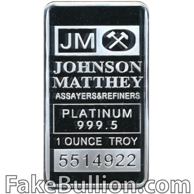Johnson Matthey 1 Ounce Platinum Bar