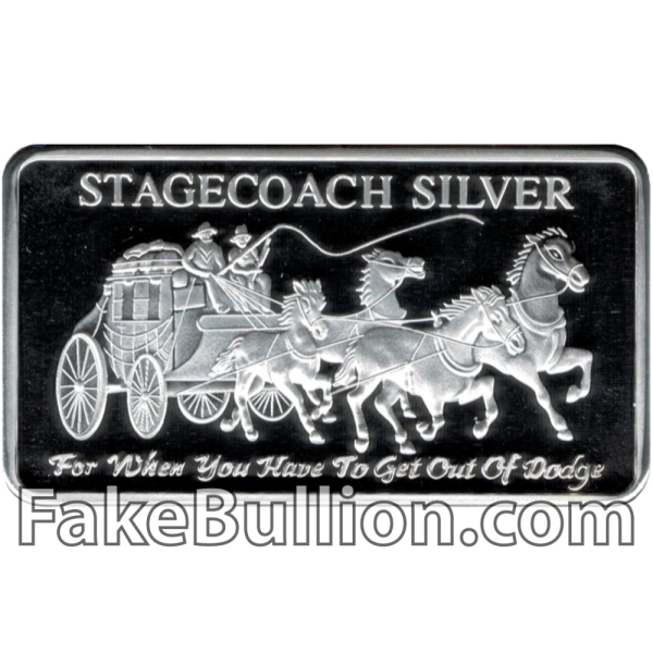 Stagecoach 1 Ounce Silver Bar