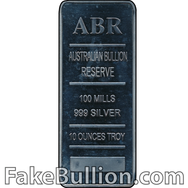 Australian Bullion Reserve 10 Ounce Silver Bar