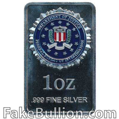 Generic Federal Bureau of Investigation Colorized 1 Ounce Silver Bar