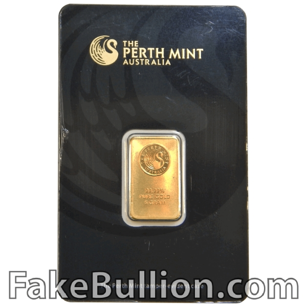 Perth Mint 5 Gram Gold Bar in Black Assay Card (Gen 3)