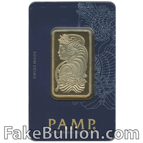 Pamp Suisse Fortuna 1 Ounce Gold Bar in Veriscan Assay Card