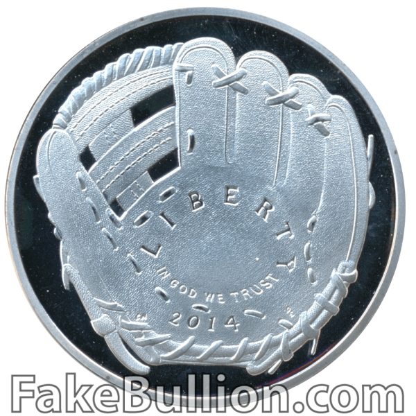 2014 United States Baseball Hall of Fame Silver Coin