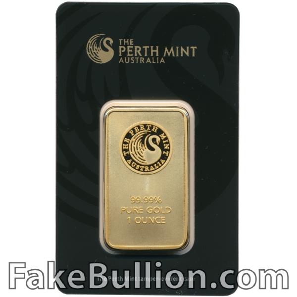Perth Mint 1 Ounce Gold Bar in Black Assay Card (Gen 3)