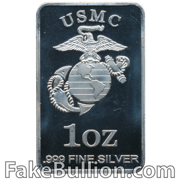 Generic US Marine Corps 1 Ounce Silver Bar