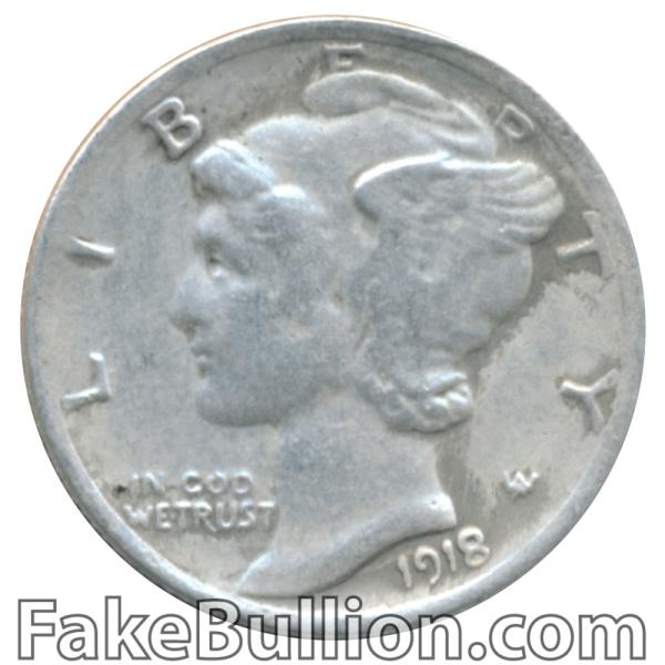 US 90% Silver Mercury Dime 1918