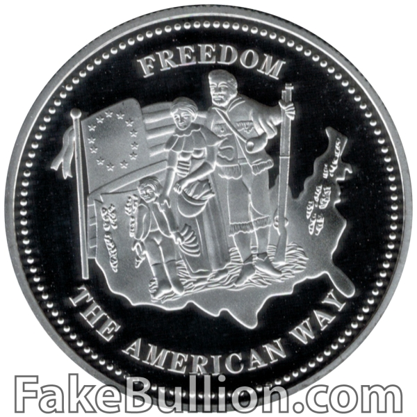 1986 Johnson-Matthey Freedom 1 Ounce Silver Round