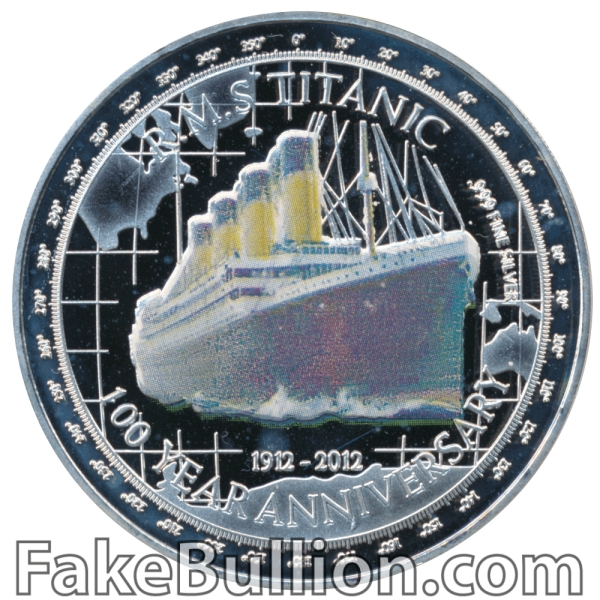 2012 Niue RMS Titanic 100 Year Anniversary Proof 1 Oz Silver Coin