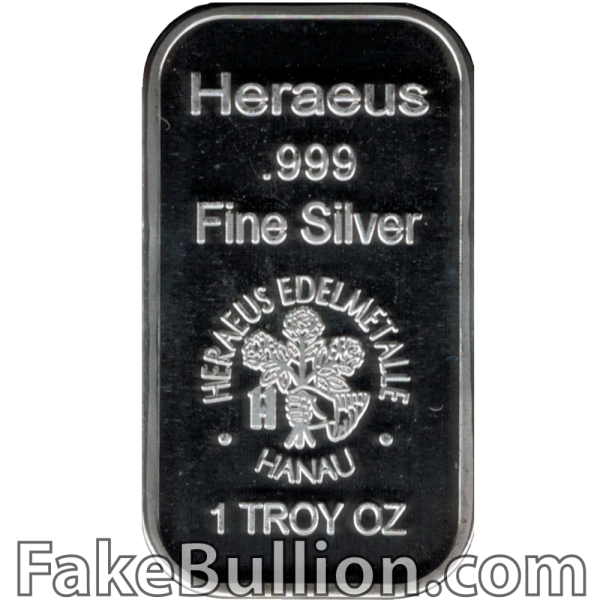 Heraeus 1 Ounce Silver Bar