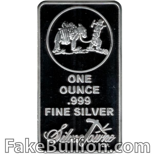 Silvertowne 1 Ounce Silver Bar