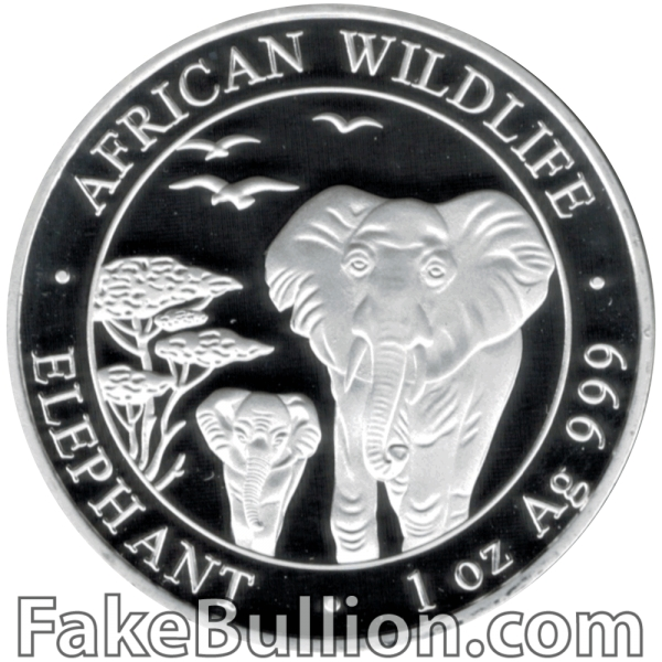 2015 Somalia Elephant 1 Ounce Silver Coin