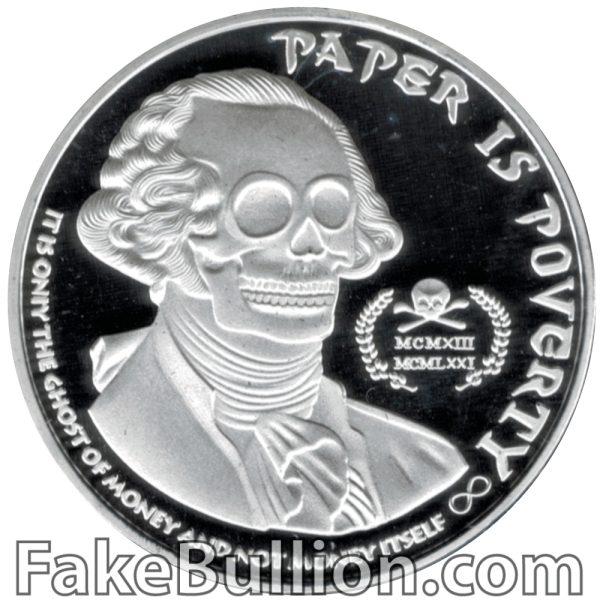 2013 AOCS Ghost Money 1 Ounce Silver Round
